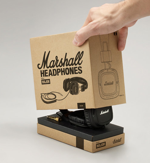 PRETTY PACKAGING marshall headphone Upstate Fancy