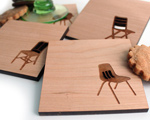 modern wood chair coasters eames