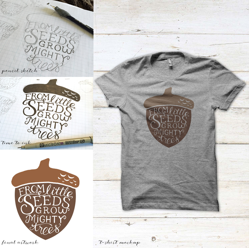 acorn-shirt-quote-kickstarter-fundonetsy