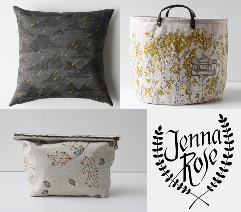 handmade by jenna rose, on etsy.com bags and pillows and more